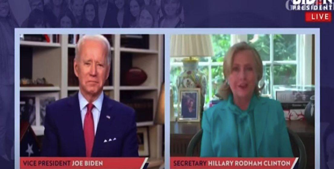 Pilihan raya Presiden AS, Hillary Clinton sokong Biden