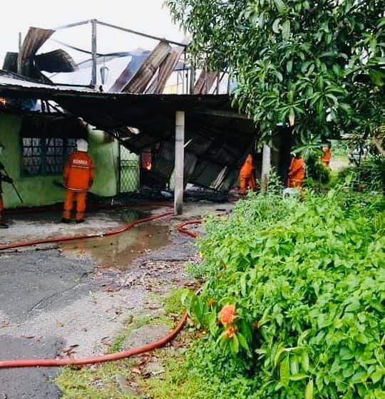 Rumah didiami 28 penghuni hangus dijilat api di Kuching