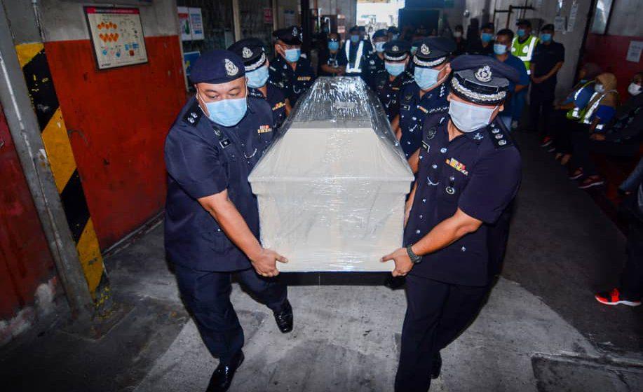 Jenazah ASP Aldrin tiba di Kuching hari ini