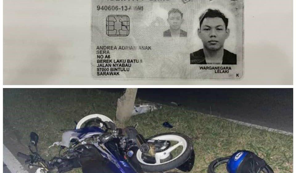 Penunggang motosikal maut terlanggar tiang di Bintulu