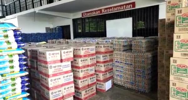 Bantuan makanan untuk 200 kampung