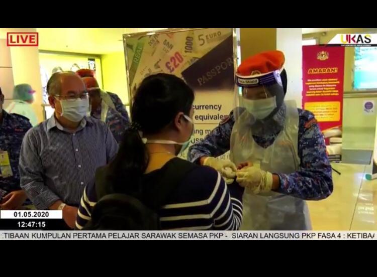 Kumpulan pertama pelajar Sarawak selamat tiba di LTAK