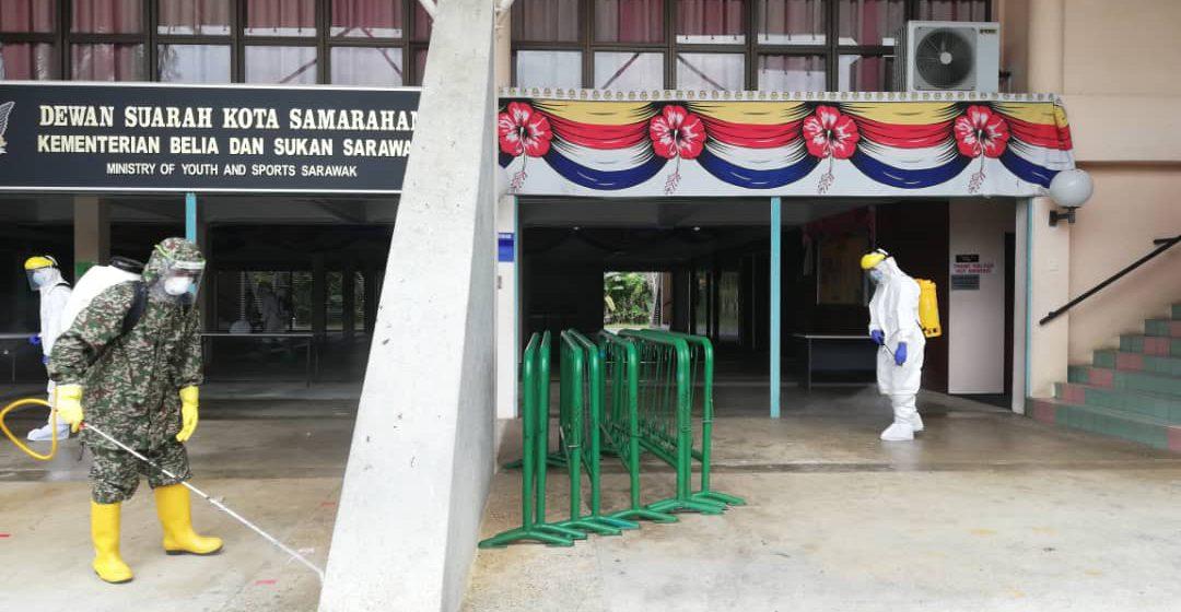 Dewan Suarah Kota Samarahan disanitasi