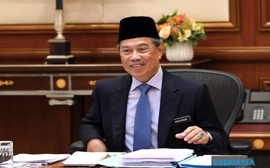 Muhyiddin kembali bertugas di pejabat selepas jalani kuarantin
