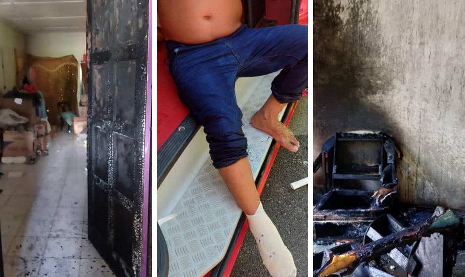 Kedai runcit terbakar akibat rokok