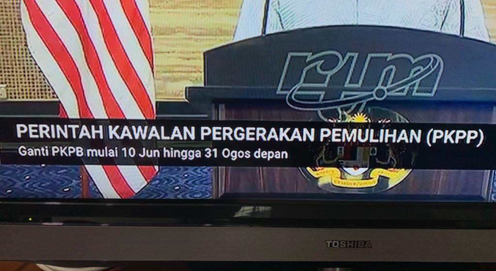 PKPP ganti PKPB bermula 10 Jun hingga 31 Ogos
