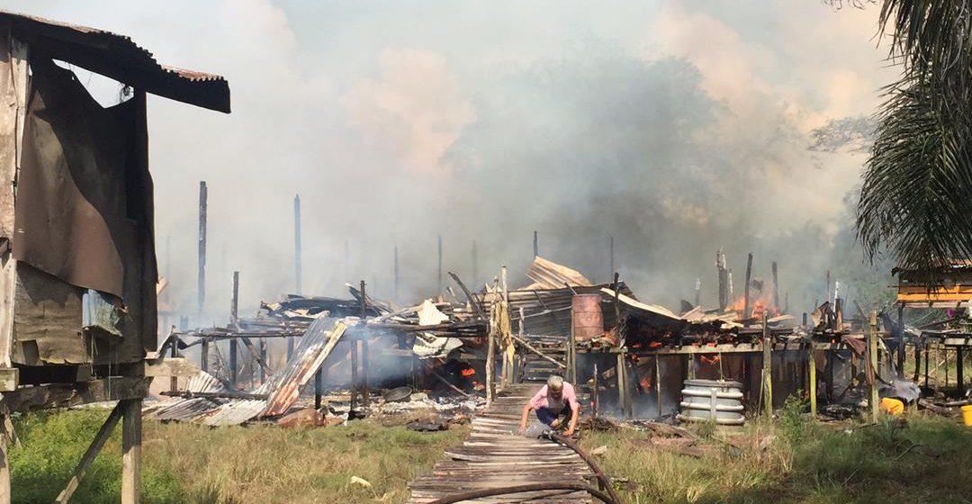 Rumah panjang di Bintulu terbakar, 135 hilang tempat berteduh