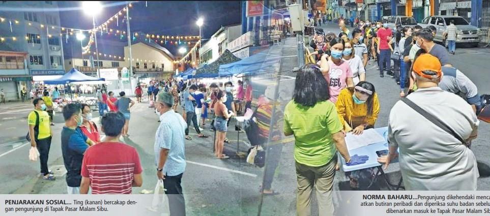 Pengunjung serbu Pasar Malam Sibu