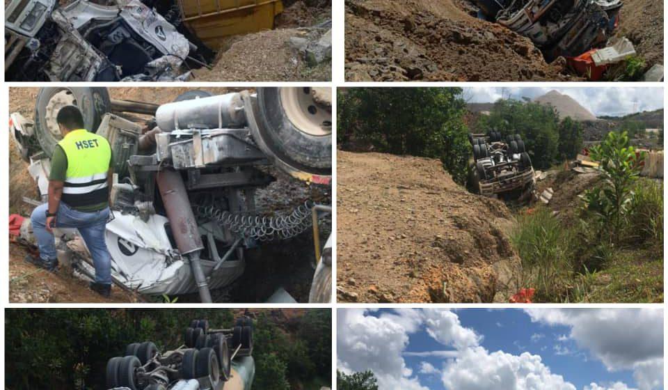 Pemandu lori maut kemalangan kendiri di Jalan Bintulu – Miri