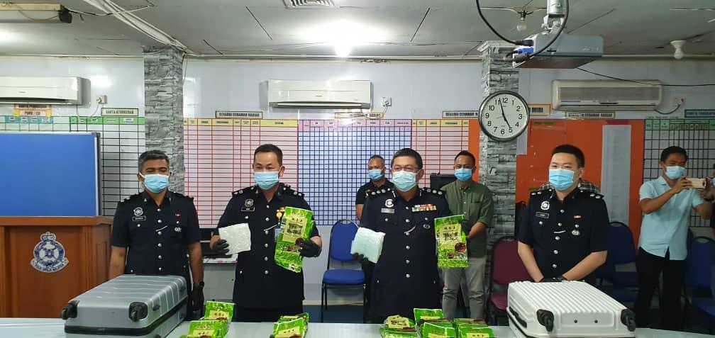 11,000 gram syabu dirampas di Lapangan Terbang Miri