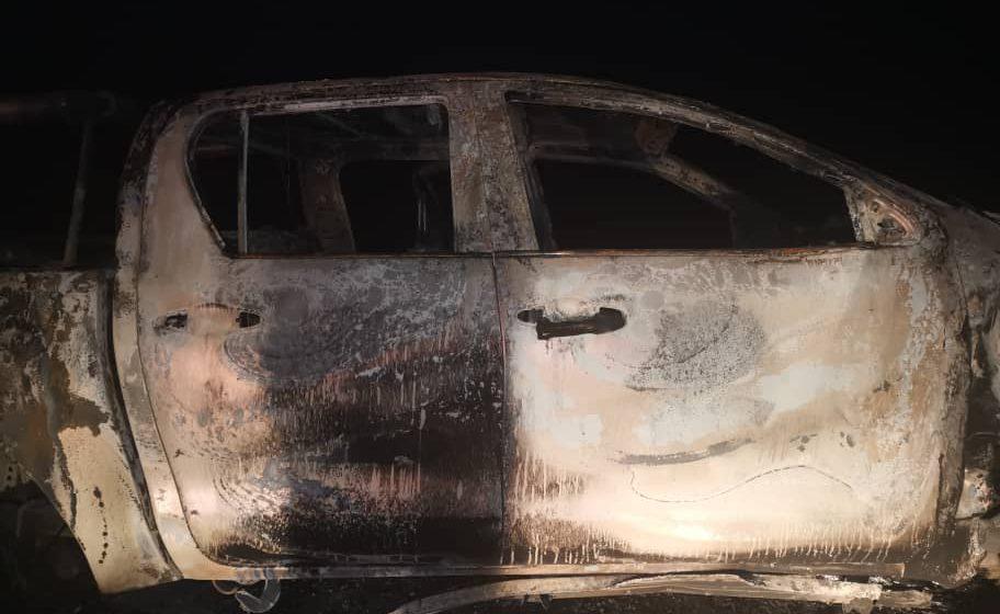 Pemandu terselamat, kereta terbakar di Bintulu