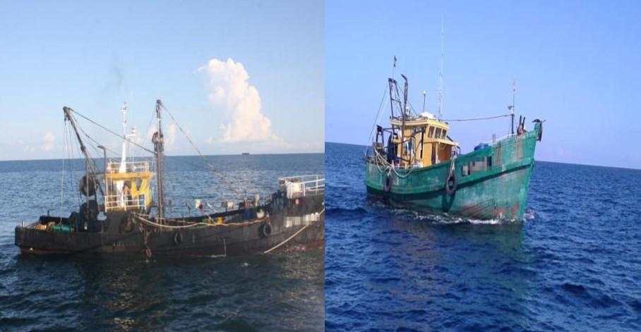 Dua bot nelayan tempatan ditahan atas pelbagai kesalahan