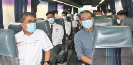 Maklumkan pelajar bas sekolah percuma
