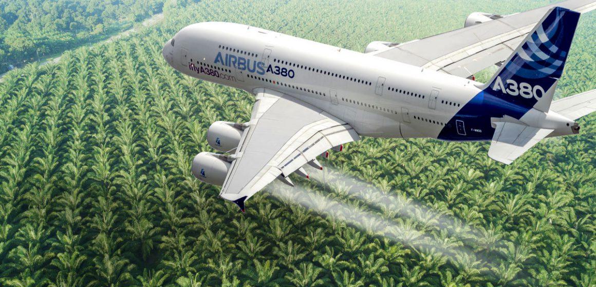 Minyak kelapa sawit Sarawak untuk pesawat