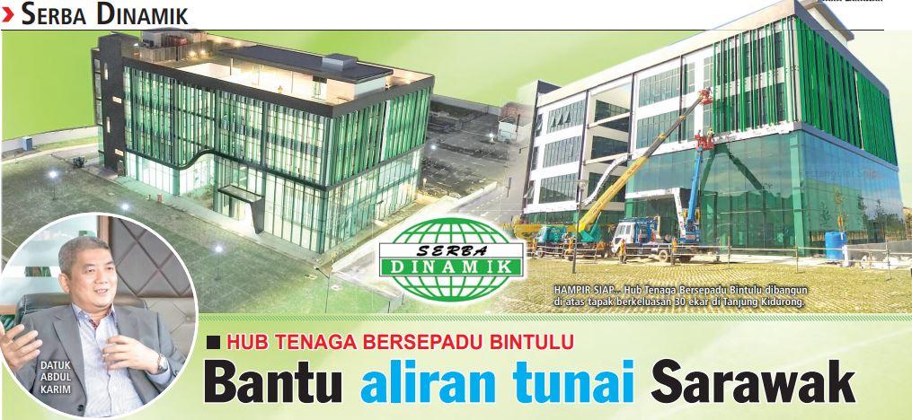 Hub Tenaga Bersepadu Bintulu: Bantu aliran tunai Sarawak