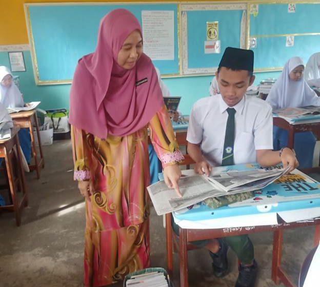 Pelajar teruja baca akhbar kami