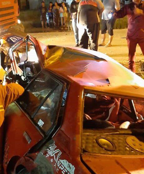 Lelaki tersepit tempat duduk penumpang dalam kemalangan di Miri