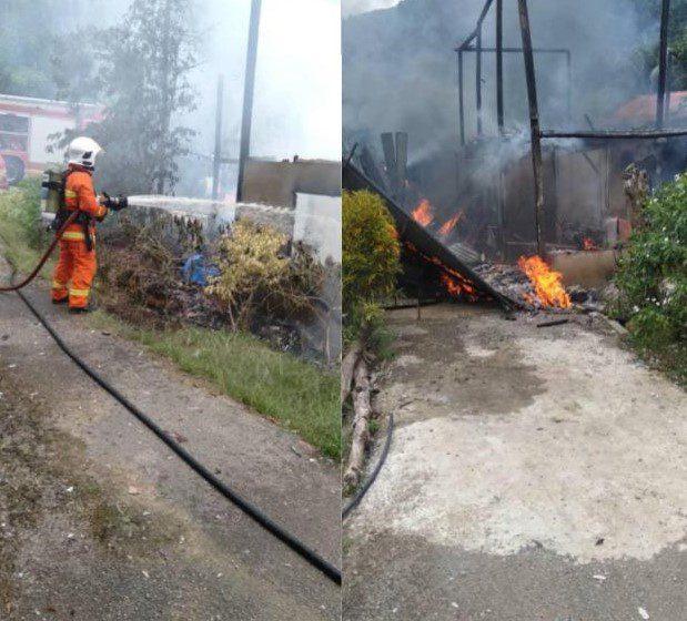 Wanita berjaya selamatkan diri dari rumah terbakar di Padawan