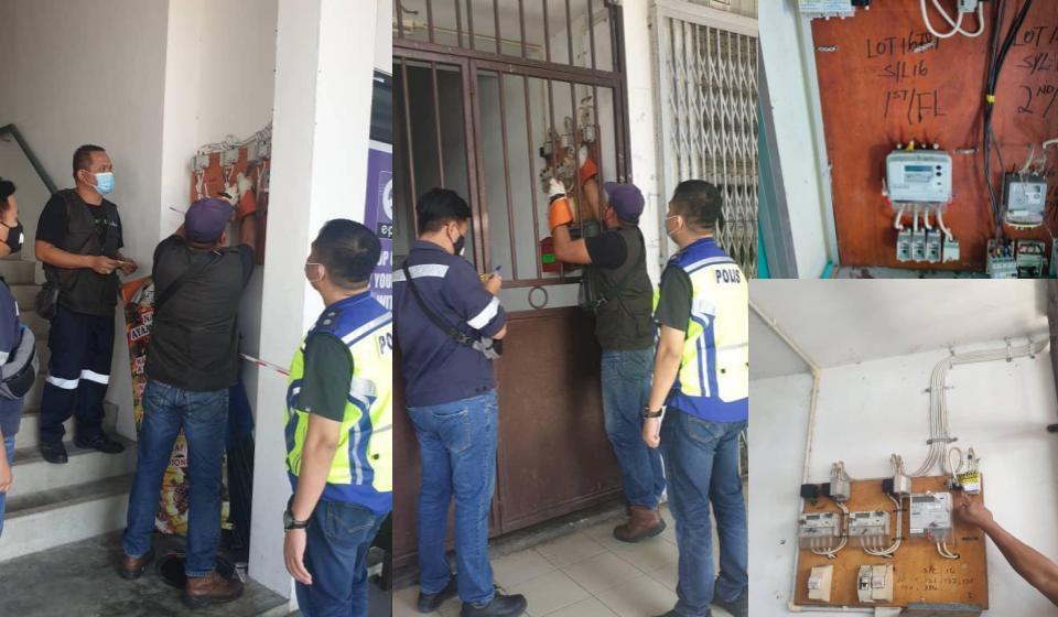 Judi tanpa lesen: Empat premis dipotong bekalan elektrik di Kuching
