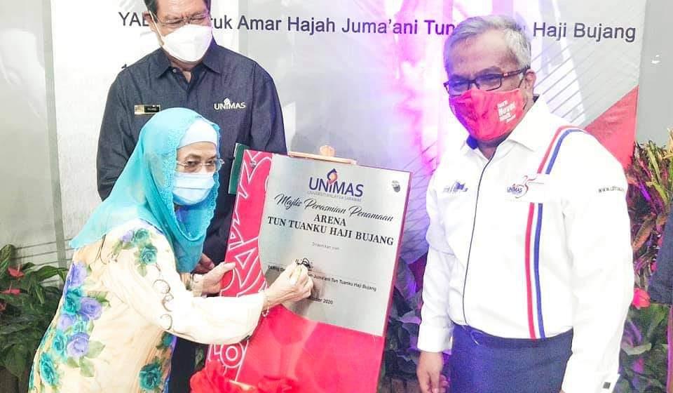 Nama Arena Tun Tuanku Haji Bujang dipilih kelai basa ngagai ex-TYT Sarawak Ke-2