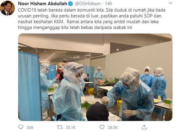 Hantaran Twitter saya hanya sekadar peringatan – Dr Noor Hisham
