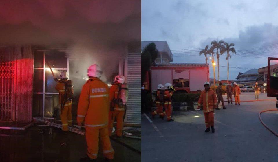 Sebuah kedai di Serian terbakar pagi tadi