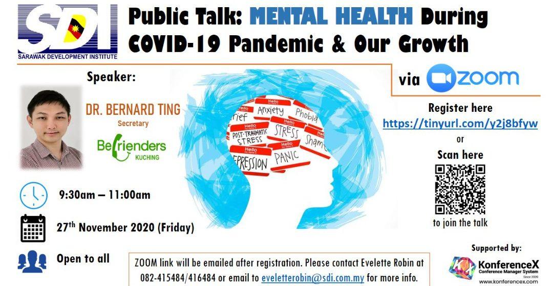 Saksikan ceramah awam percuma mengenai Kesihatan Mental Jumaat ini