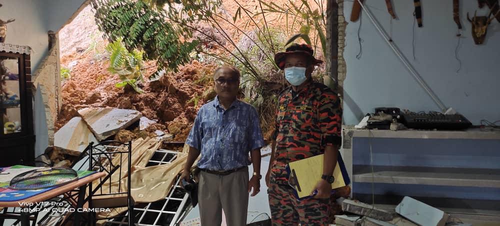 Dua keluarga di rumah panjang, Segala Beraoh diancam tanah runtuh