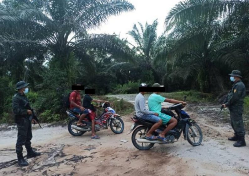 Empat warga Indonesia cuba memasuki Sarawak melalui jalan tikus diusir balik