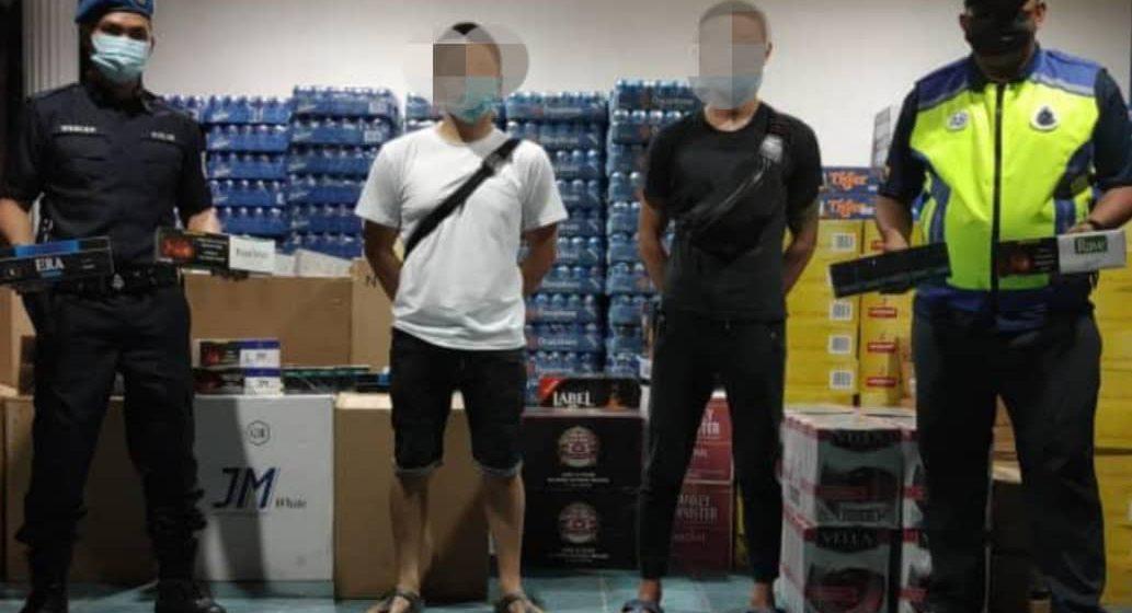 Sejumlah RM382,498.40 rokok dan minuman keras pelbagai jenis tidak bercukai dirampas