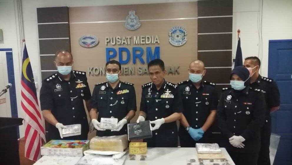 Tiga individu ditangkap, empat kilogram ganja dirampas dalam operasi di Jalan Temple
