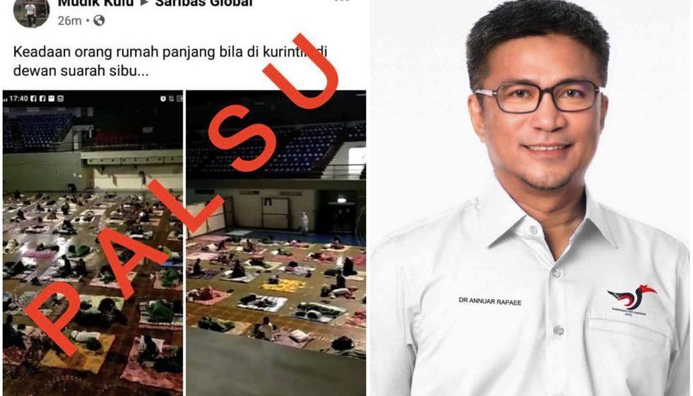 Foto tular dakwa penduduk Pasai Siong ditempatkan di pusat kuarantin palsu