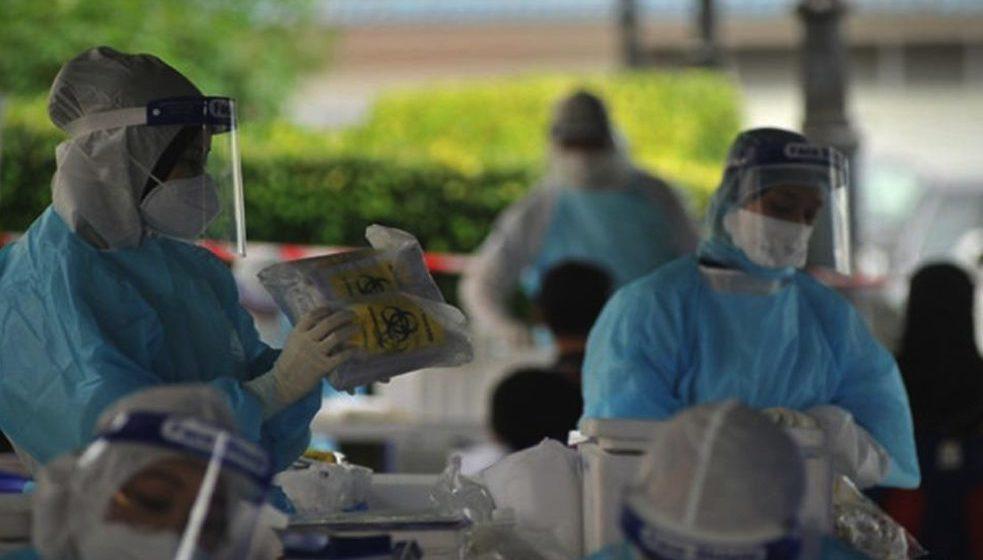 Ujian saringan COVID-19 besar-besaran di Sibu Jaya hari ini
