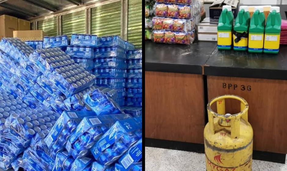 PGA Sarawak rampas pelbagai barangan keperluan harian, rokok dan minuman keras