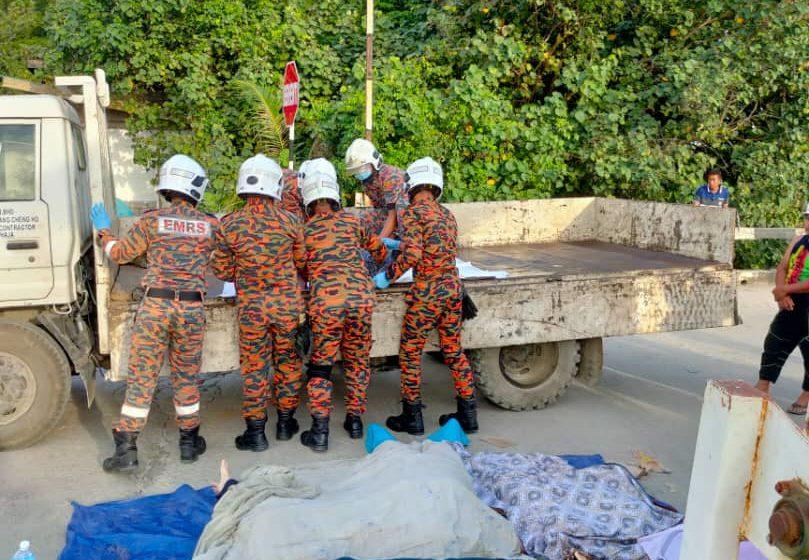 Anak mit empat bulan entara semilan bebadi nyawa 4WD labuh ke Sg Triso