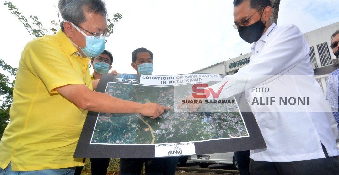800 unit CCTV dipasang dikena nyikap Kuching nyadi mengeri pintar