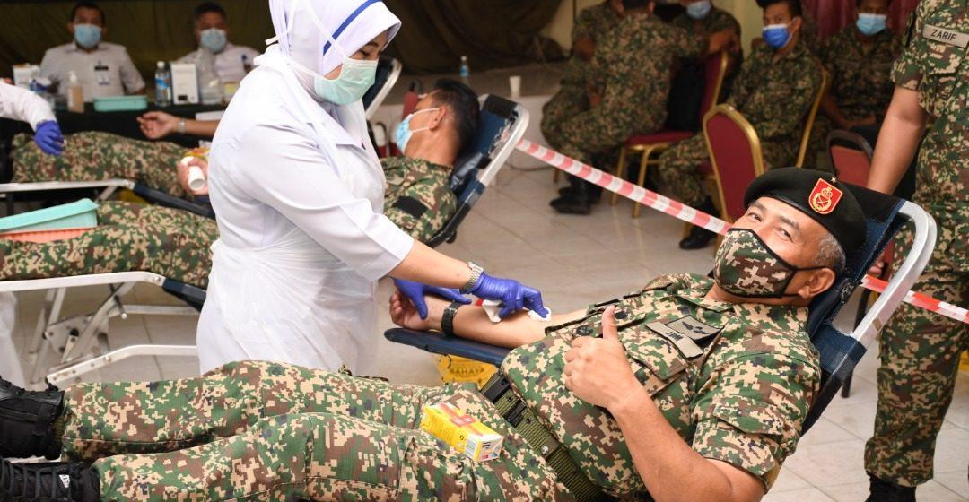 ATM komited sertai derma darah Hospital Umum Sarawak