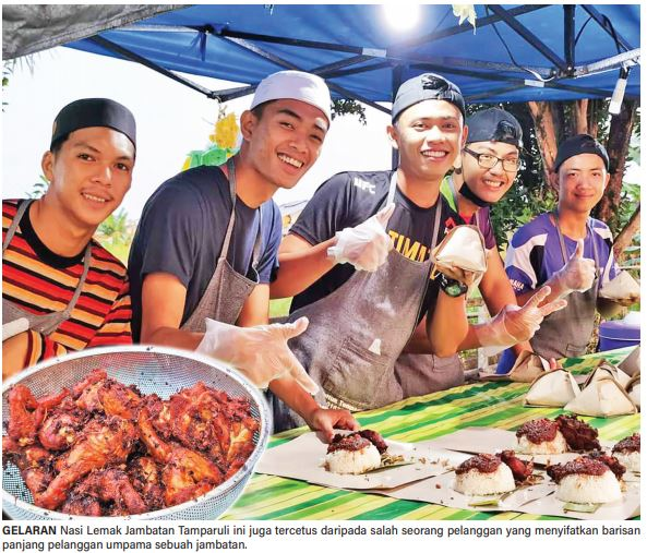 Nasi Lemak Jambatan Tamparuli pindah Shah Alam