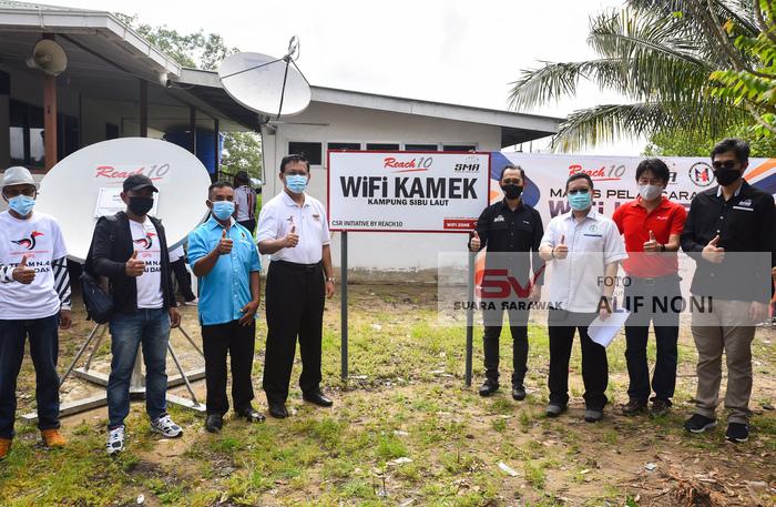 Wifi Kamek hadiah untuk orang Sibu Laut