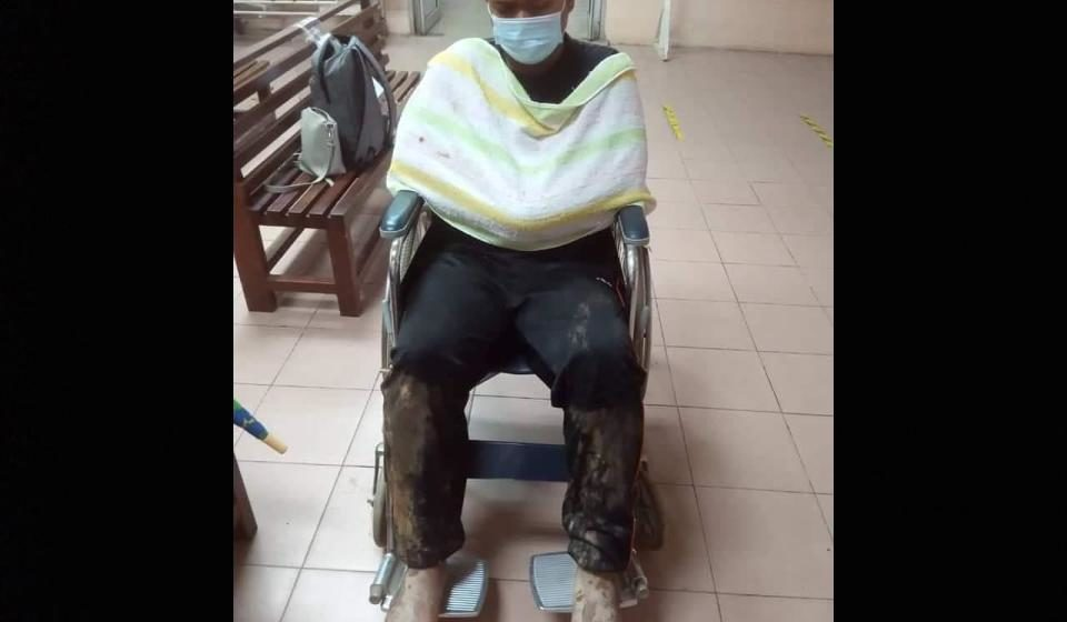 Remaja patah kedua-dua kaki, terhumban dalam tanah runtuh