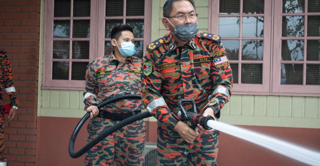 Sanitasi di Lion Nursing Home dan Rumah Kanak-kanak Bala Keselamatan sempena Tahun Baru Cina