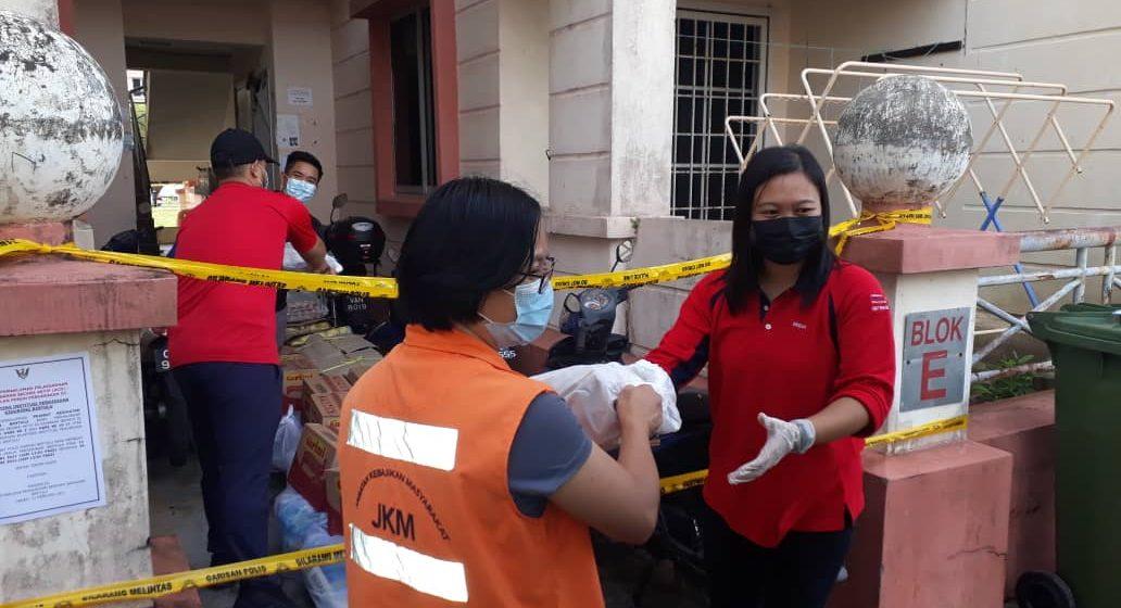 JKM Bahagian Bintulu agih bantuan makanan kering kepada penghuni kuarters IPG Kidurong