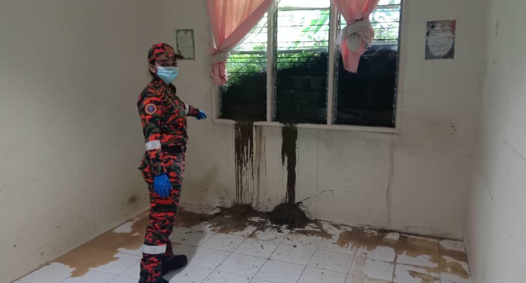 Tanah runtuh hempap dapur, bilik rumah ketika penghuni nyenyak tidur
