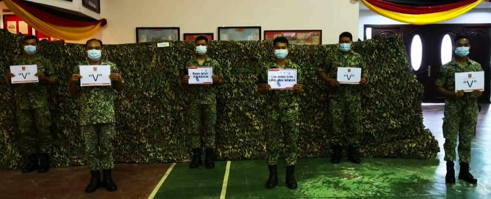 Anggota Tentera barisan hadapan mulai terima vaksin