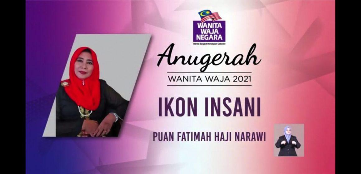 Fatimah Narawi terima Anugerah Wanita Waja 2021