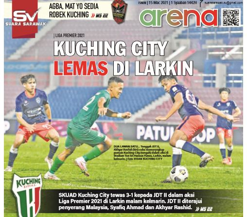 Kuching City terkulai di Larkin
