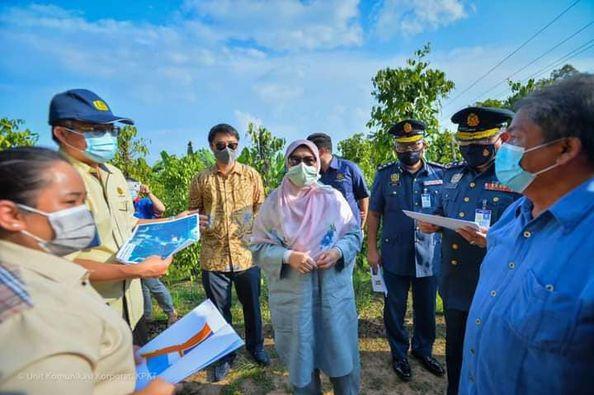 Zuraida udah ngabas taba projek Balai Bomba di Julau