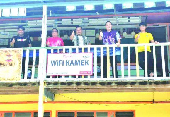 WIFI KAMEK udah dipasang di SK Ng Menjuau
