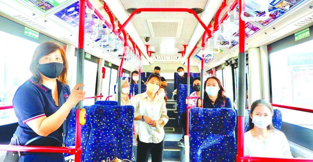 Kuching mengeri keterubah di Asia Tenggara bisi bas hidrogen