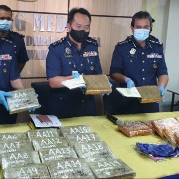 Wanita, keldai dadah ditahan cuba seludup ganja melalui LTAK